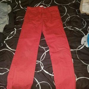 Rust red boys slim khakis
